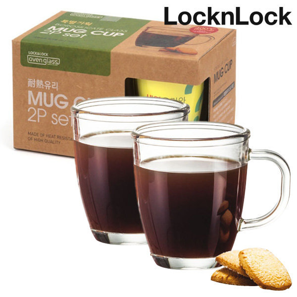 락앤락 내열유리컵 유리머그컵 커피머그잔 커피컵 상품이미지