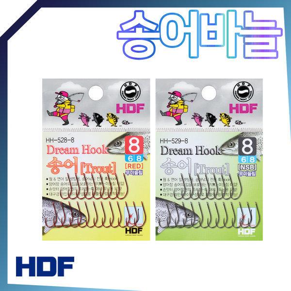 해동 드림훅 송어훅 송어바늘 무미늘침 웜 연어알 훅 상품이미지