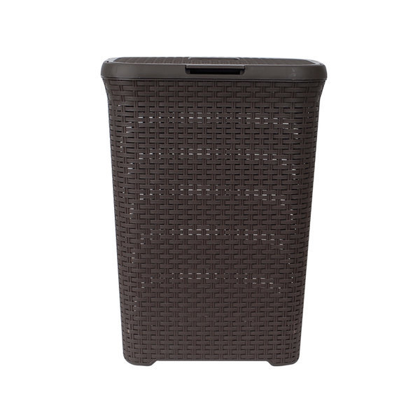 라탄 빨래바구니 MI-LB60B(브라운) 빨래통 빨래수거함 상품이미지