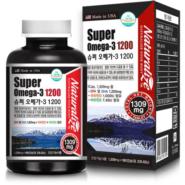 슈퍼오메가3 1200 비타민D1000 180캡슐 6중기능 6개월 상품이미지