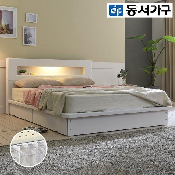 밀레스 LED 평상서랍 침대Q+케미컬폼Q 매트리스 DF915488 상품이미지