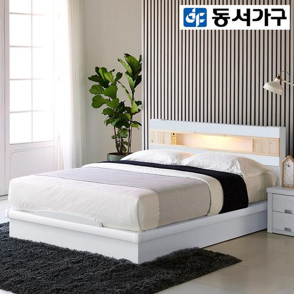 (시즌특가) LED 편백나무헤드 평상형/수납 Q 퀸침대 상품이미지