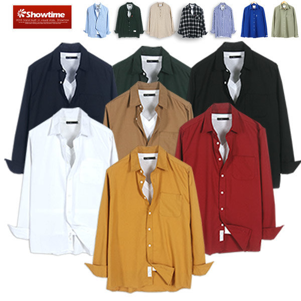 365캐쥬얼셔츠 루즈핏 남방 남자 남성 데일리 무지 상품이미지