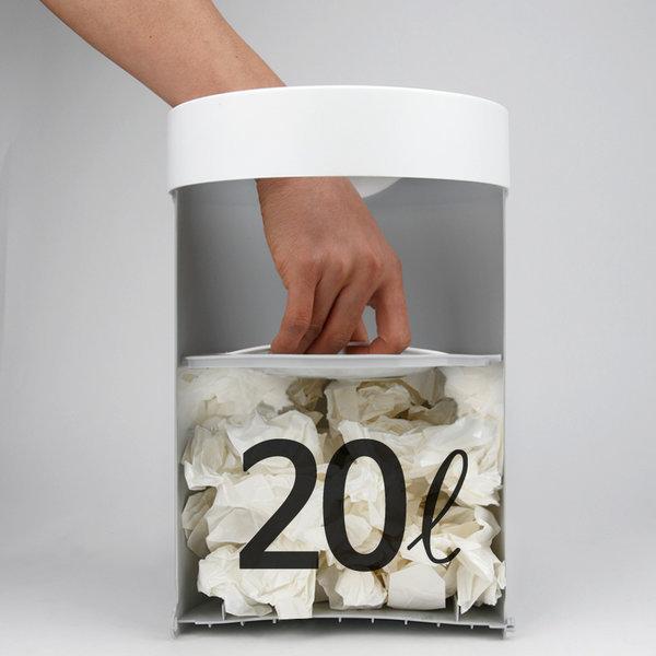 20L 가정용 압축 종량제 휴지통 쓰레기통 20리터 상품이미지