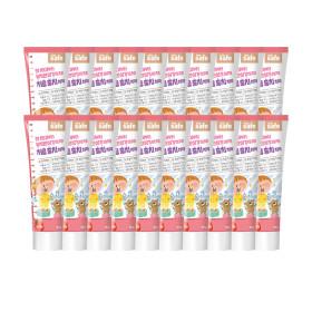 어린이 유아 치약 딸기향 90g 20개+포도치약