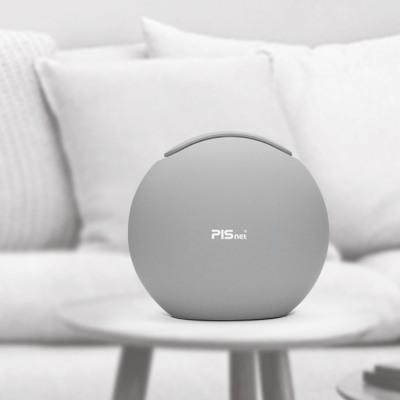Mini air purifier PISNET air true HEPA filter LED gray