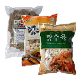 탕수육1kg/깐풍기1kg/왕새우튀김/부추산적/튀김감자