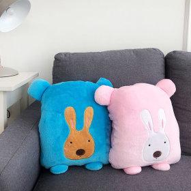 Nap Blanket/Microfiber/Cushion/Characters/Thank You Gift Wrist Cushion Blanket