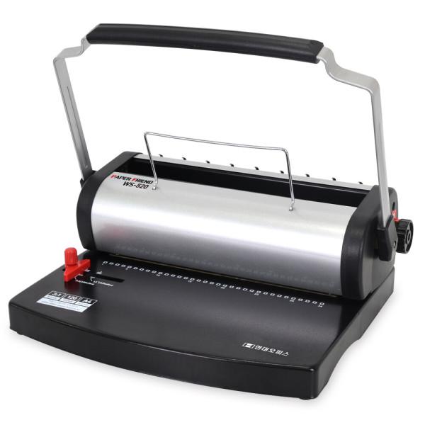 와이어링제본기 WS-520 스프링 제본기 제본링+표지 상품이미지