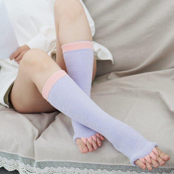 수련 다이어트양말 슬리밍 뷰티레그 수면삭스 SR217(핑크/보라)/필라테스양말 상품이미지