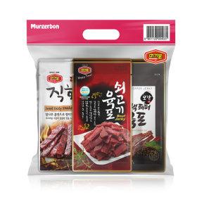 육포3종혼합2개입 (쇠고기+달콤직화+블랙페퍼육포)
