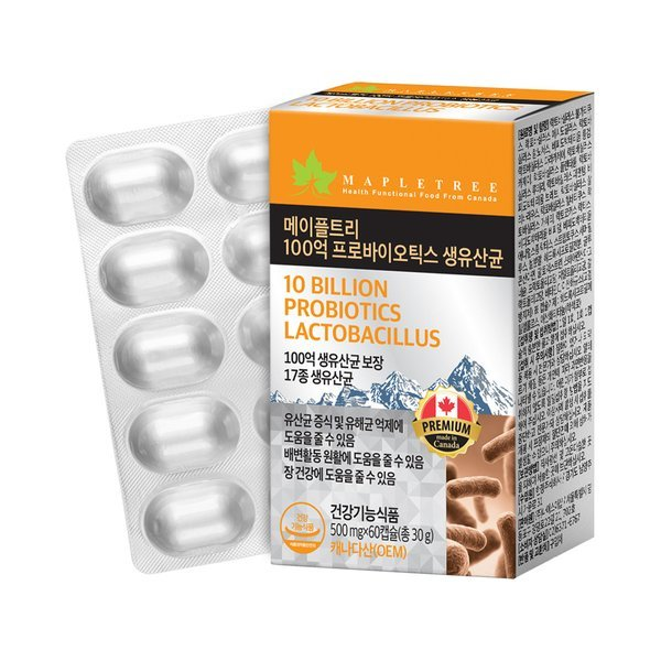 메이플트리 100억 프로바이오틱스 생유산균 (60캡슐 2개월분) 상품이미지