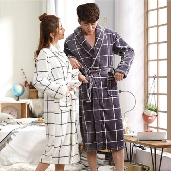 극세사 샤워가운 목욕가운 커플 겨울 잠옷 수면잠옷 상품이미지