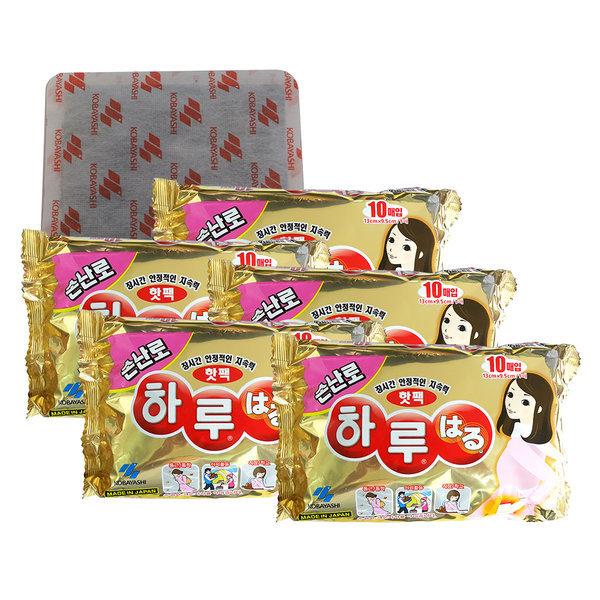 일본정품   하루핫팩손난로 10p x 5개 하루온팩/핫팩 상품이미지