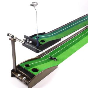 원목퍼팅연습기 퍼터 치퍼 스윙연습기 레일매트 골프