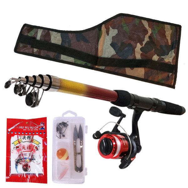 바다.민물겸용 4종/낚싯대+릴+바늘+낚시줄/풀세트 낚시대루어릴낚시휴대용.원투.바다낚시.휴가 상품이미지