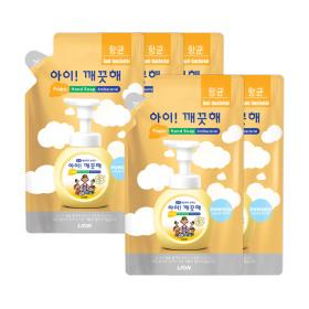 아이깨끗해 핸드솝 순 200ml 리필 8개+키친250ml용기