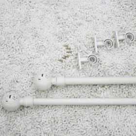 지구봉 화이트 월넛 커튼봉 130~240cm