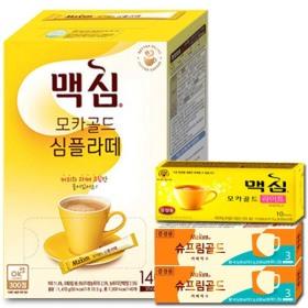 커피믹스/커피/라떼/맥심 심플라떼 140T+10T/커피
