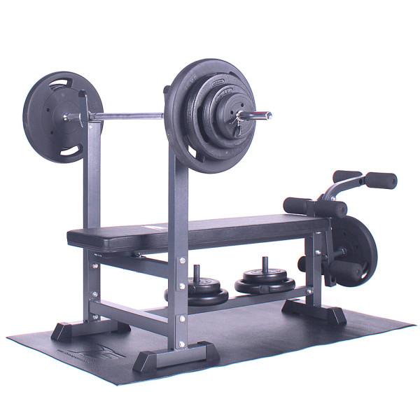 포스스포츠 포스레그벤치프레스 블랙원판10~80kg세트 상품이미지