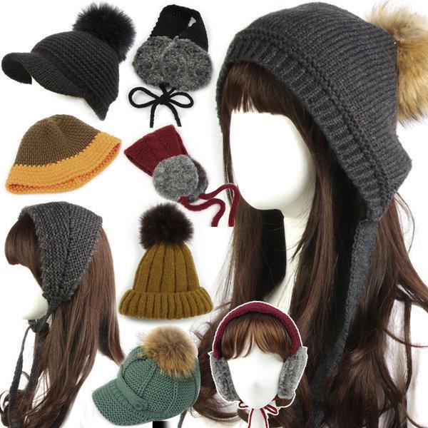 겨울(털모자/방울)(2+1)니트모자/귀마개/겨울/여성 상품이미지