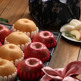 과수원길 사과 배 과일선물 제수용사과6과배4과총4.5kg