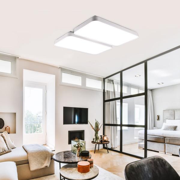 LED거실등/조명/방등 미러 거실4등 120W 화이트 칩랜덤 상품이미지