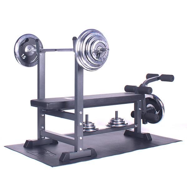 포스스포츠 포스레그벤치프레스 크롬원판10~80kg세트 상품이미지