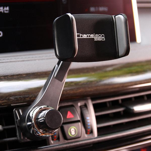 카멜레온360 송풍구형 블랙 차량용 핸드폰 거치대 상품이미지