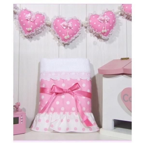 핑크 도트 패브릭 타올 러블리 큐티한 최고급 디자인 상품이미지