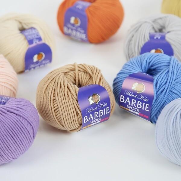 바비울 Barbie wool 낱개/뜨개실/인형실/코튼실/털실 상품이미지