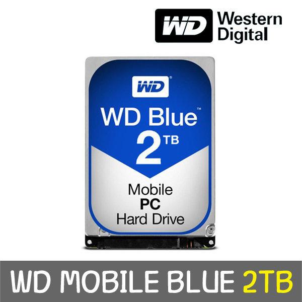 WD MOBILE BLUE 2TB 7mm WD20SPZX +正品 공식판매점+ 상품이미지