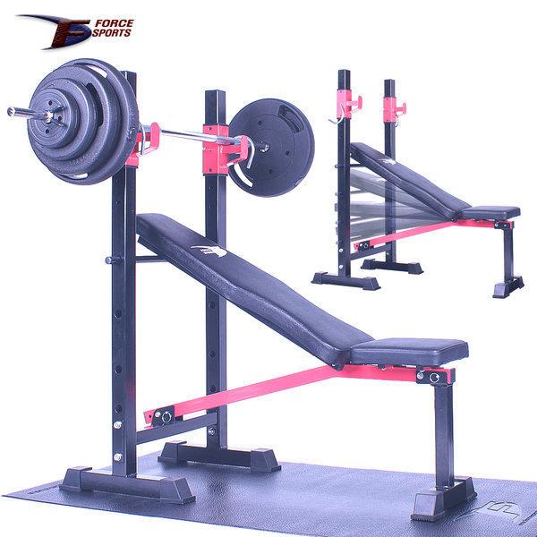 포스스포츠 포스각도벤치프레스 블랙원판10~80kg세트 상품이미지