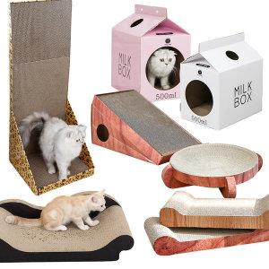 한발뚝딱 고양이 스크래쳐 용품 하우스 집 장난감