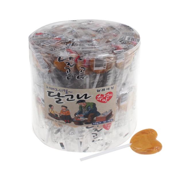 추억의달고나 막대사탕 100개 달고나사탕 캔디 대용량 상품이미지