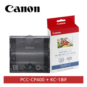 [캐논]  [정품] 포토프린터용 PCC-CP400 [크레딧카드 카세트] + KC-18IF