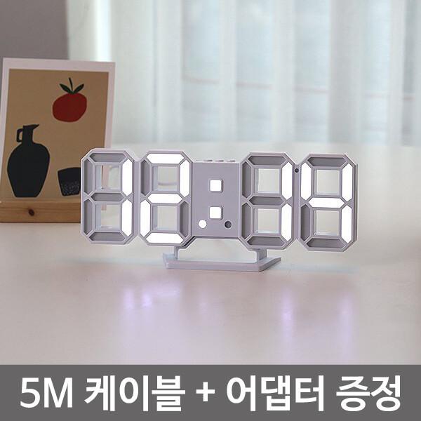 테이블 스탠드 탁상용 LED 시계 거실 디자인 벽시계 상품이미지