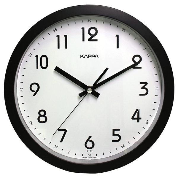 카파 IP186 검정 저소음 심플 모던 블랙 벽걸이 시계 상품이미지