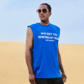 레트로 프린팅 민소매 티셔츠 / 나시티 GN-3N02