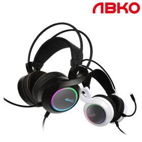 앱코 B770 버추얼 7.1 진동 RGB 게이밍 헤드셋 블랙 ㅡ