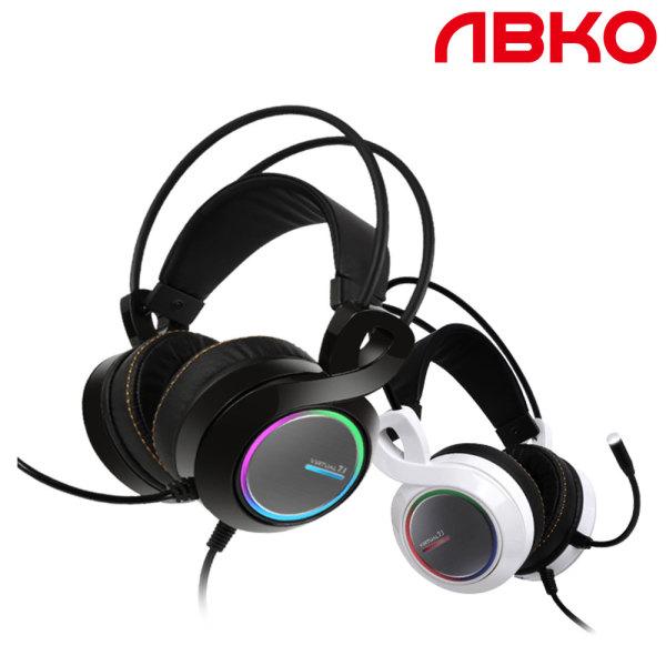 앱코 B770 버추얼 7.1 진동 RGB 게이밍 헤드셋 블랙 ㅡ 상품이미지