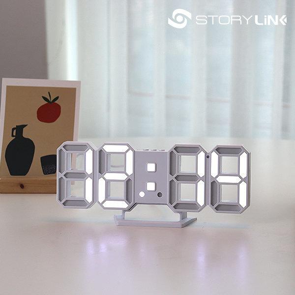 디지털 전자 LED 탁상 무소음 인테리어시계 벽시계 상품이미지