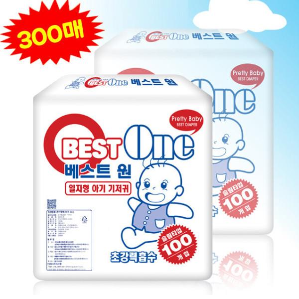한빛 베스트 신생아기저귀 300매/조리원 일자형기저귀 상품이미지