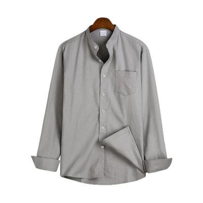 Basic Chinese collar shirt/ long sleeve shirt MSH-543