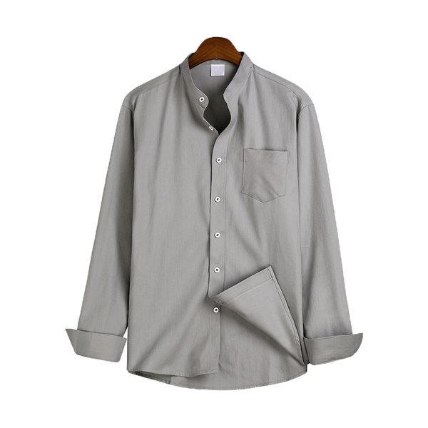베이직 차이나넥 셔츠 / 긴팔셔츠 MSH-543 상품이미지