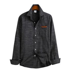 가죽 포켓 셔츠 / 긴팔셔츠 MSH-527