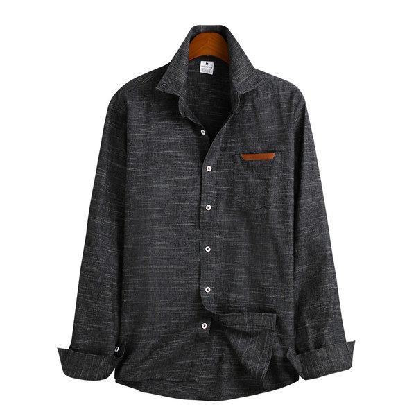 가죽 포켓 셔츠 / 긴팔셔츠 MSH-527 상품이미지