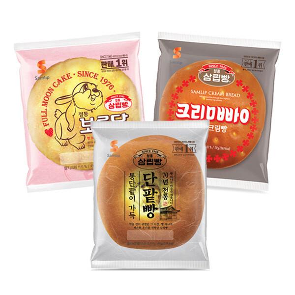 (현대Hmall)삼립 봉지빵 보름달빵/크림빵/단팥빵 9봉 상품이미지