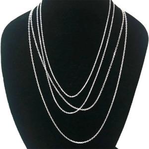 b3e61800780 펜던트용 은목걸이 체인 얇은사슬 1돈 50cm 목걸이줄