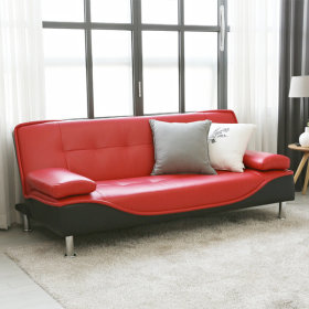 BLMG Sofa bed / adjustable back rest / detailed stitching / sturdy legs / cushioned /